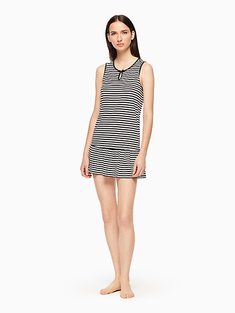 Kate Spade Chemise, Black And White Stripe - Size L