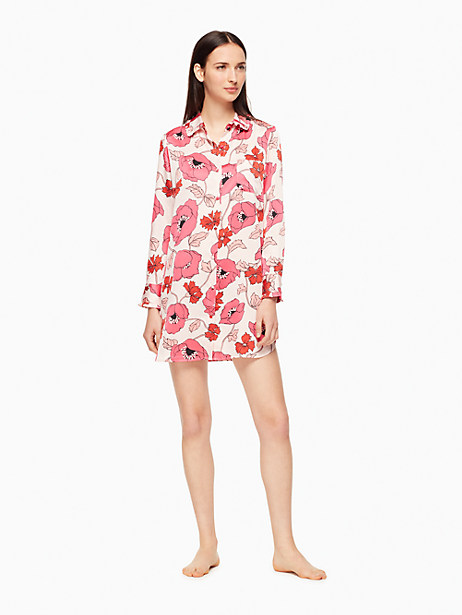 Kate Spade Sleep Shirt, Floral - Size S