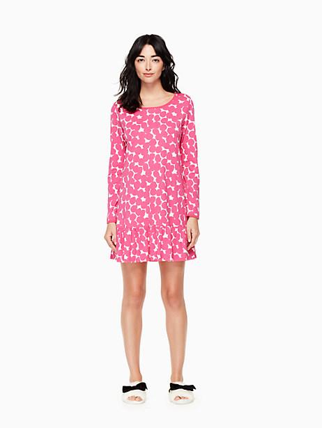 Kate Spade Sleepshirt And Sleepmask Set, Abstract Dot - Size M