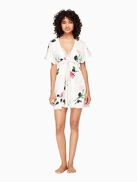 Kate Spade Charmeuse Robe, Rose - Size L/XL