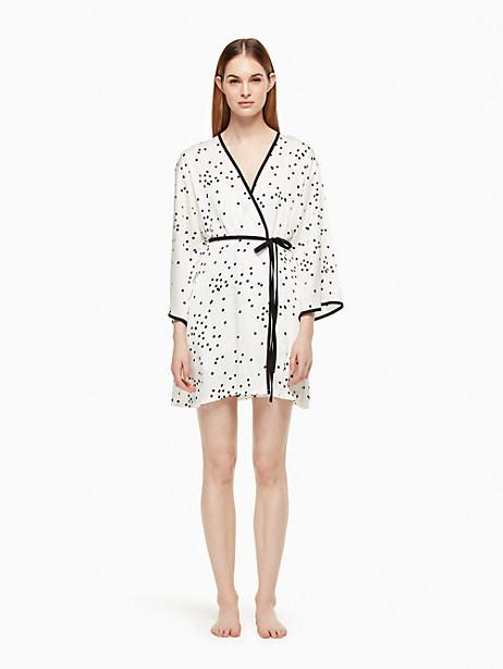 Kate Spade Robe, Off-White Confetti Dot - Size L/XL