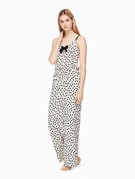 Kate Spade Charmeuse Jumpsuit, Spot - Size L