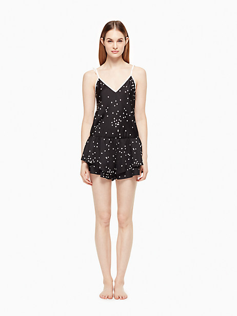 Kate Spade Romper, Black Confetti Dot - Size L