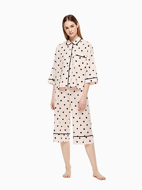 Kate Spade Capri Pj Set, Pretty Woman Dot - Size L