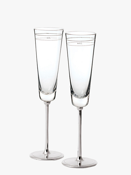 darling point toasting flute pair by kate spade new york