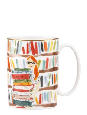 library books mug