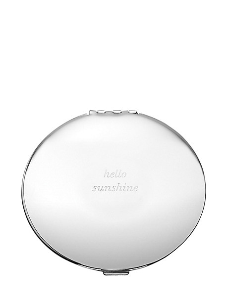 silver street hello sunshine compact by kate spade new york