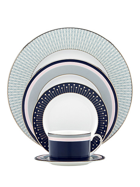 Kate Spade Mercer Drive Five-piece Place Setting, Navy