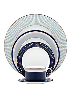 mercer drive five-piece place setting by kate spade new york