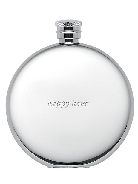 silver street happy hour flask by kate spade new york