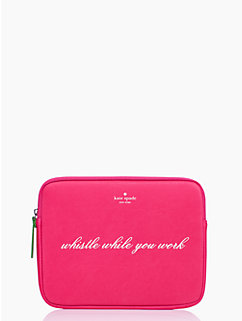 whistle while you work ipad sleeve