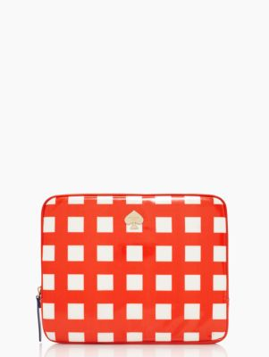 pop art check ipad sleeve