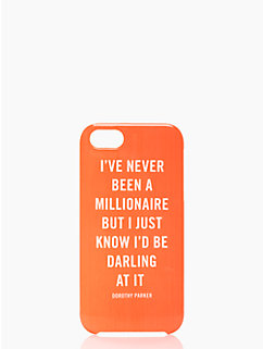 millionaire quote iphone 5 case