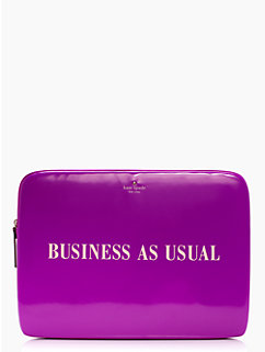 business as usual laptop sleeve