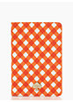 gingham mini ipad folio, orange