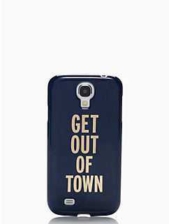 get out of town resin samsung S4 case by kate spade new york