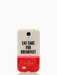 eat cake for breakfast samsung s4 case by kate spade new york
