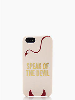 speak of the devil iphone 5 case by kate spade new york
