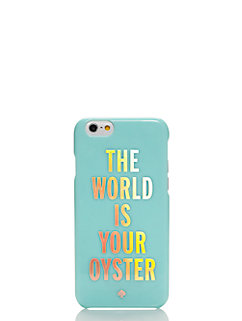 the world is your oyster resin iphone 6 case by kate spade new york
