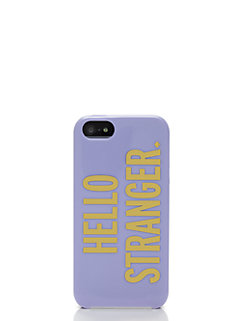 hello stranger iphone 5 case by kate spade new york