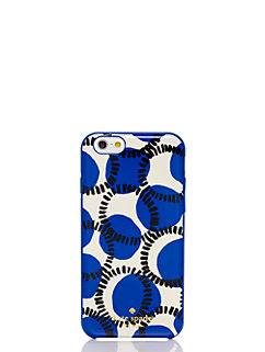 block stamped dots resin iphone 6 case by kate spade new york