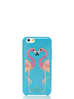 embellished flamingos resin iphone 6 case by kate spade new york