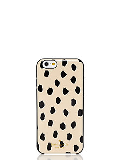 gold leopard dot resin iphone 6 case by kate spade new york