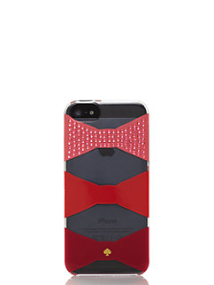 embellished bow tile resin iphone 5 case by kate spade new york