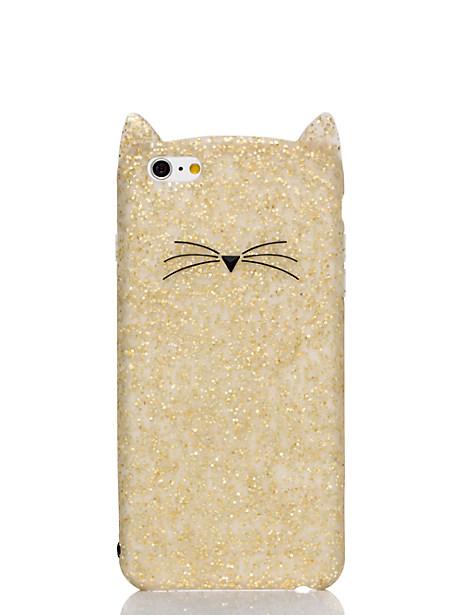 Kate Spade Glitter Cat Iphone 6 Plus Case, Gold Glitter