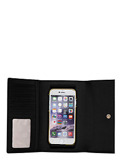 leather phone iphone 6 wallet by kate spade new york