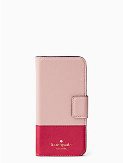 leather wrap folio iphone 7 by kate spade new york