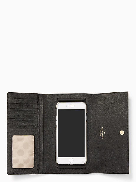 leather iphone 7 & 8 wallet by kate spade new york