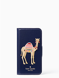 camel applique folio iphone 7 case by kate spade new york