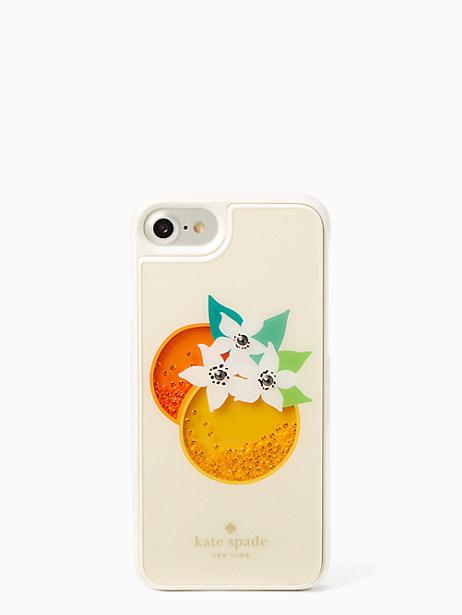 Kate Spade Orange Shaky Gems Iphone 7 Case, Cream