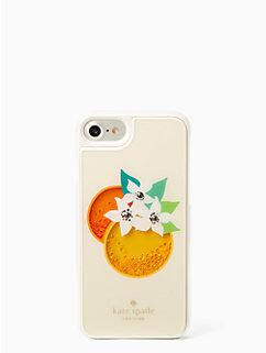 orange shaky gems iphone 7 case by kate spade new york