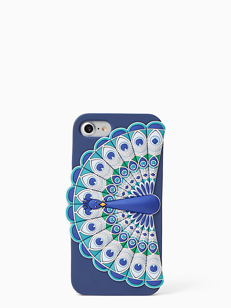 Kate Spade Silicone Peacock Iphone 7 Case, Blue
