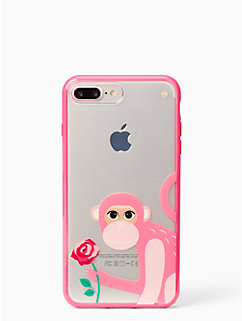 monkey with rose iphone iphone 7 plus by kate spade new york