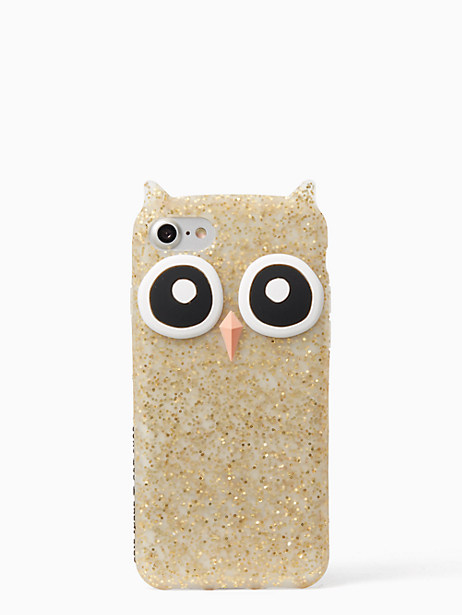 Kate Spade Silicone Owl Iphone 7 Case, Gold