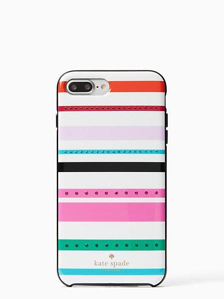 Kate Spade Jeweled Fiesta Stripe Iphone 7 Plus Case, Cream