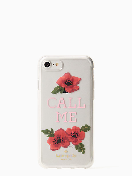 Kate Spade Needlepoint Call Me Iphone 7 Case, Clear