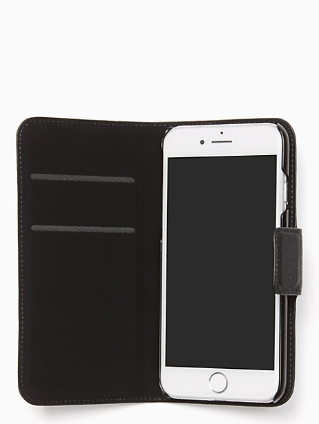 leather wrap folio iphone 7/8 case by kate spade new york