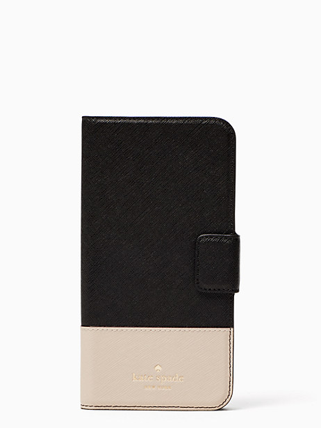 leather wrap folio iphone 7/8 plus case by kate spade new york