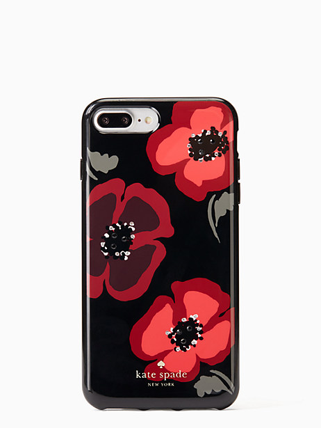 Kate Spade Jeweled Poppy Iphone 7 Plus Case, Black
