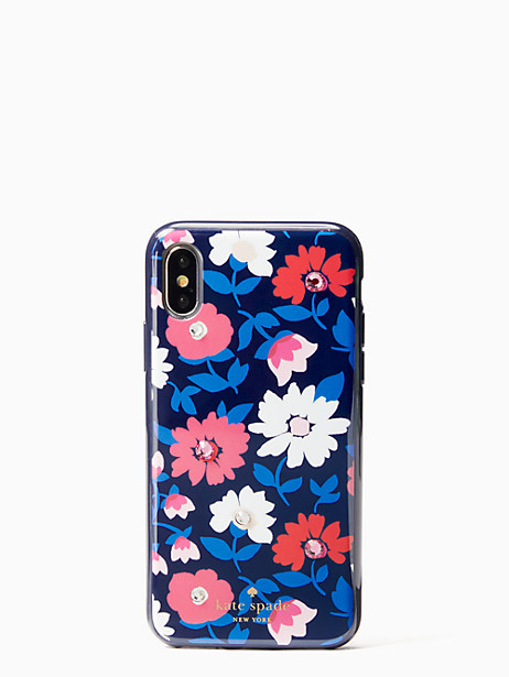 Kate Spade Jeweled Daisy Iphone Cases X Case, Blue