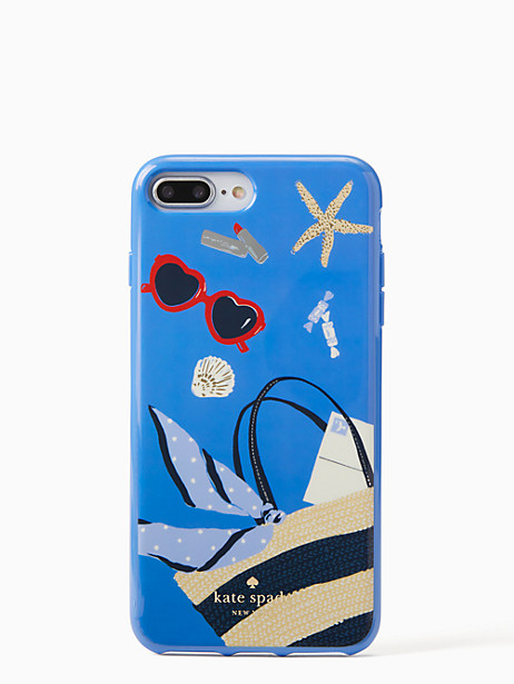 Kate Spade Beach Bag Iphone Cases 7 & 8 Plus Case, Blue