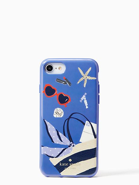 Kate Spade Beach Bag Iphone Cases 7 & 8 Case, Blue