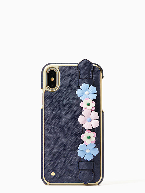 floral hand strap stand iphone x case by kate spade new york