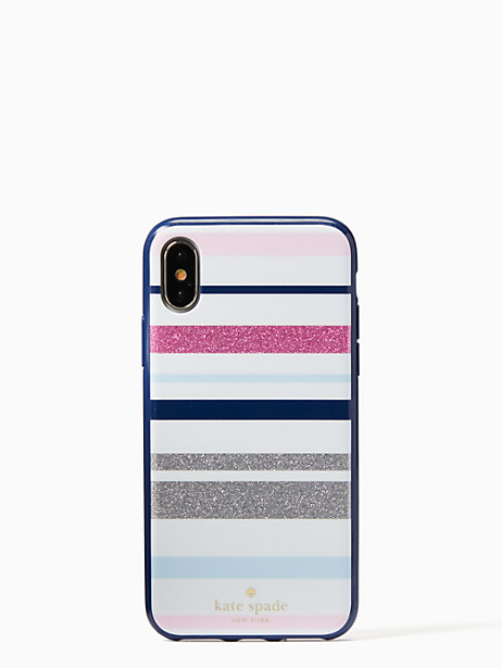 Kate Spade Desert Stripe Iphone X Case, Blue