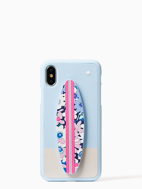 silicone surfboard stand iphone x case by kate spade new york