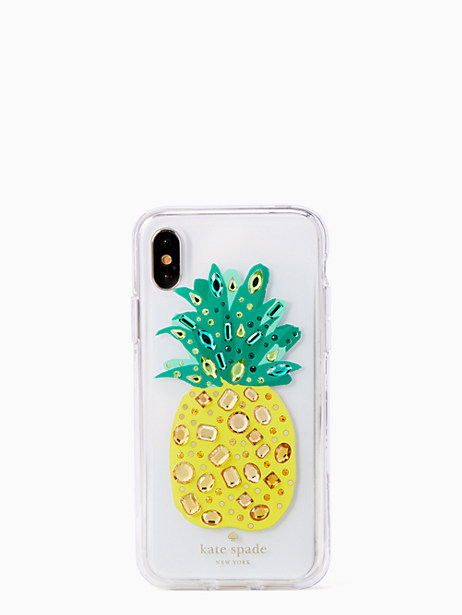 jeweled pineapple iPhone X case by kate spade new york